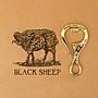 黑羊選物 黃銅 開瓶器鑰匙圈 手感扎實有份量...