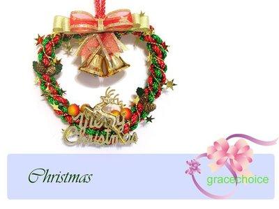 風姿綽約--聖誕圈掛飾(F024)~中國結編織~ 贈送外國朋友的好禮