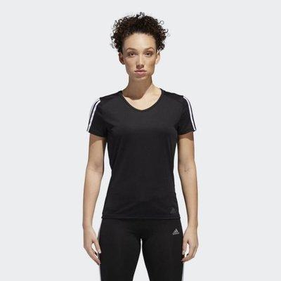 》P.S 》ADIDAS RUNNING 3-STRIPES 休閒 運動 短袖 女款 黑 CZ7569