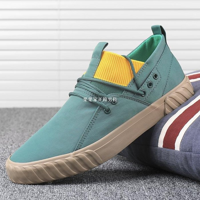 果果家正韓男鞋潮鞋子2020新款夏季透氣布鞋男一腳蹬低幫帆布鞋正韓潮流百搭板鞋
