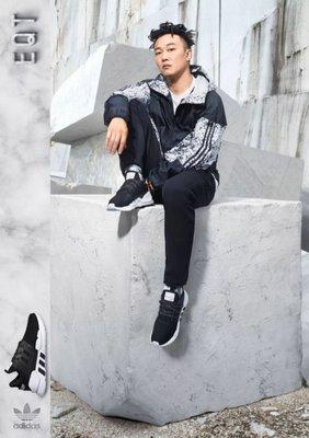 adidas 愛迪達 三葉草 黑白 大理石 爆裂紋 DV1965 風衣外套 連帽 陳奕迅