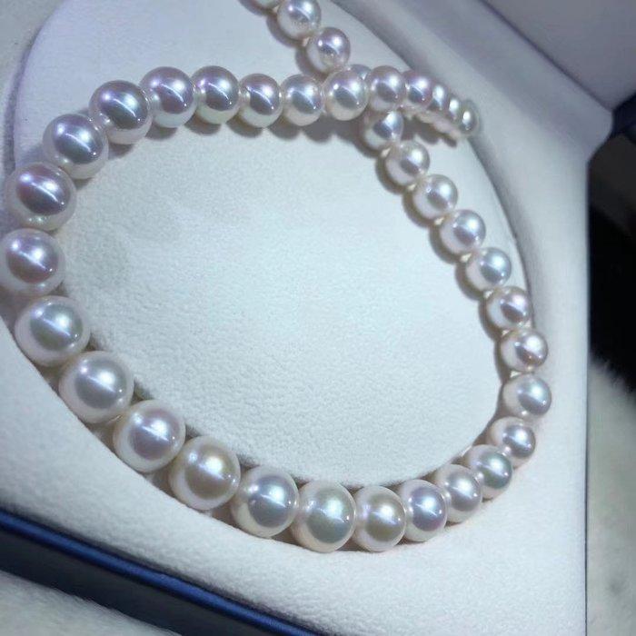 (輕舞飛揚)天然海水珍珠項鍊,超大顆頂級珠寶級珠光~珠光寶氣貴氣優雅時尚正圓強光幾乎無暇,珠珠直徑10-13mm
