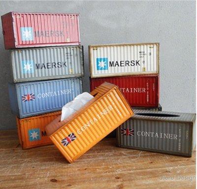 LOFT工業風 美式復古 貨櫃面紙盒 抽紙盒 早午餐 餐廳 咖啡廳 客廳 室內設計 設計師 創意小物