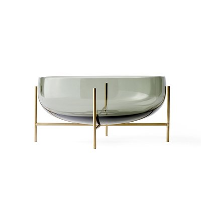 Luxury Life【正品】Menu 29.5cm 伊雀思 水滴造型 煙燻玻璃 水果皿 / 置物碗 - 大尺寸
