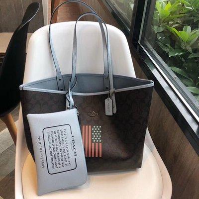 NaNa代購 COACH 25949 新款托特包 可肩背 雙面使用 子母包 容量大 附購證 買即送禮