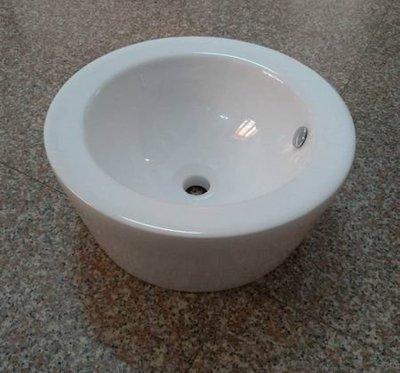 【鹿港衛浴】~工廠直營~~T111石磨造型精品藝術抬上碗公盆 (白色)