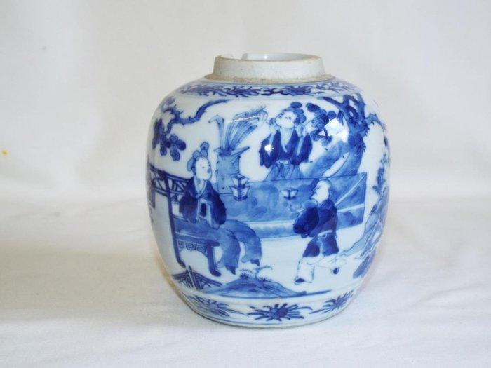 清代 青花茶葉罐