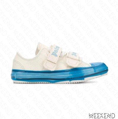 【WEEKEND】 PALM ANGELS Velcro Vulcanized 魔鬼氈 帆布鞋 休閒鞋 藍色 20春夏