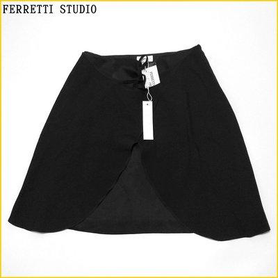 💗日本帯回✈️ALBERTA FERRETTI 義大利製 女 42号 黒色 短裙 A字裙 義大利品牌女裝 A516FF