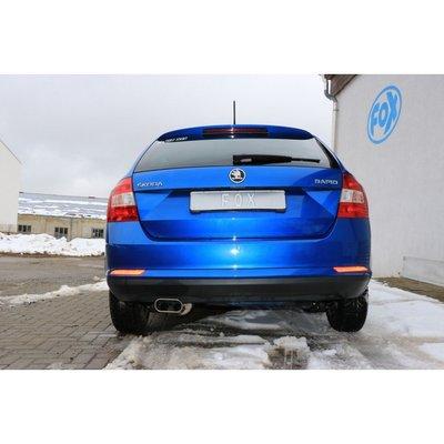 DIP 德國 Fox 排氣管 Skoda Rapid 掀背車 1.4 中段 消音包 專用 12+