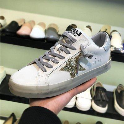 Empress丶韓國東大門小臟鞋女圓頭系帶亮片做舊板鞋chic單鞋百搭B77F