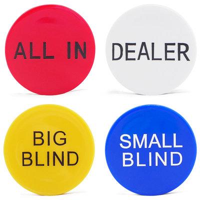 哈尼店鋪*DEALER Button 大小盲注 塑料莊碼 壓牌莊片 DC-002優惠推薦