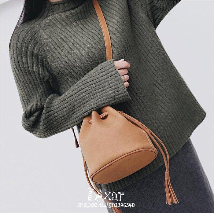 迷你單肩水桶包女新款韓版簡約百搭斜挎包女包小包潮