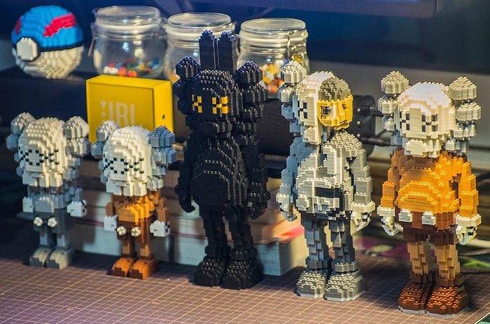 【NoComment】潮流玩物 居家裝飾 積木KAWS玩具 七款 APE STUSSY