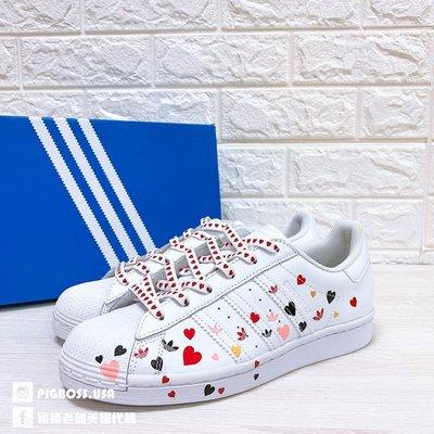 【豬豬老闆】ADIDAS ORIGINALS SUPERSTAR 白 滿版 愛心 休閒 復古 經典鞋 女鞋 FV3289