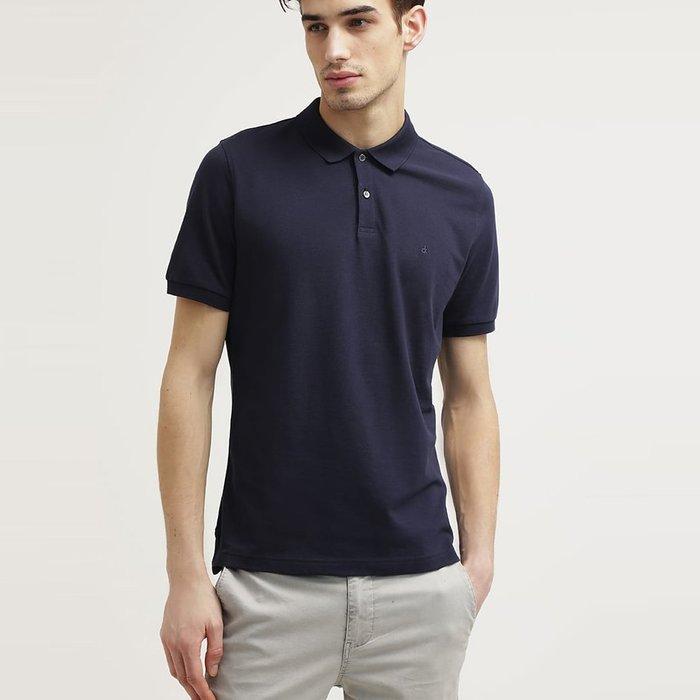 美國百分百【全新真品】Calvin Klein 男生 素面 純棉 網眼 上衣 短袖 POLO衫 CK 深藍 A942