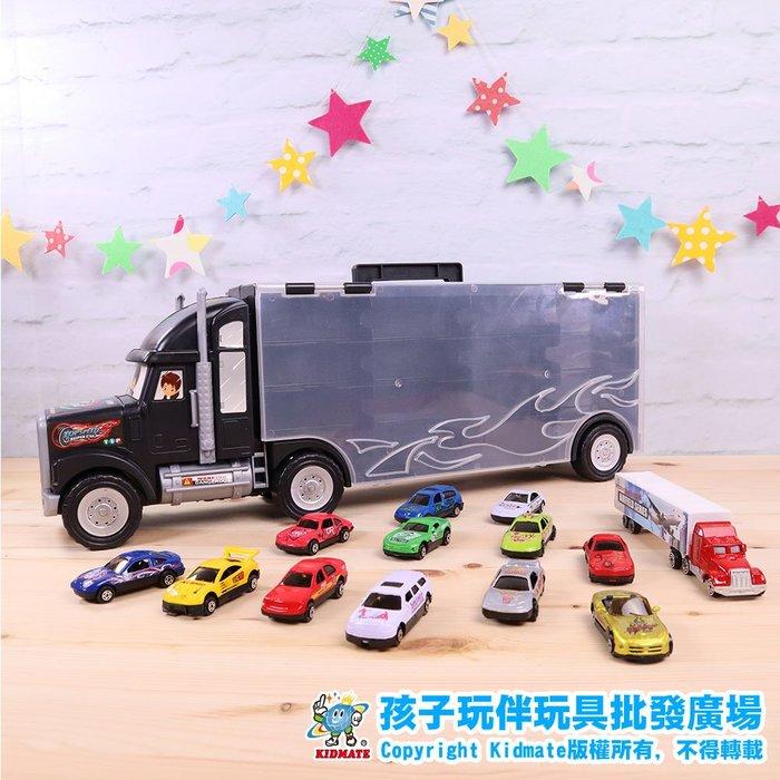 合金車拖車套裝.合金車.拖車.玩具車.小汽車.模型車.禮盒 - 孩子玩伴