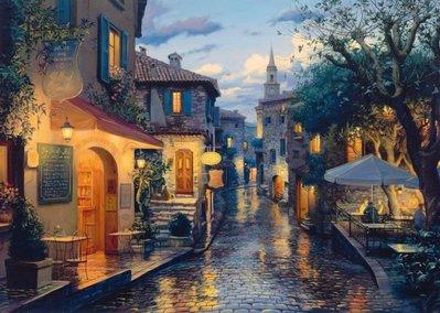 歐洲進口拼圖 SCH 繪畫風景 夢幻的歐洲街道 Lusphin 1000片拼圖 58563
