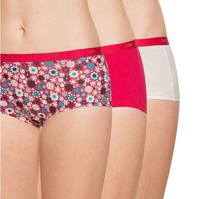 法國DIM-POCKETS「旅行輕便-彈力棉」系列平口褲3件組-蜜桃雪花-BO4C20-3Q6