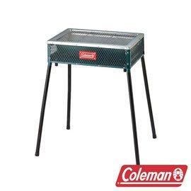 【山野賣客】Coleman CM-21952 酷立架烤肉箱 綠 可調式烤肉箱 烤肉架 烤肉爐 燒烤爐 抽屜式炭盆 露營