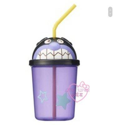 ♥小花花日本精品♥麵包超人細菌人造型吸管水杯飲料杯環保耐摔可重複使用單一價~3