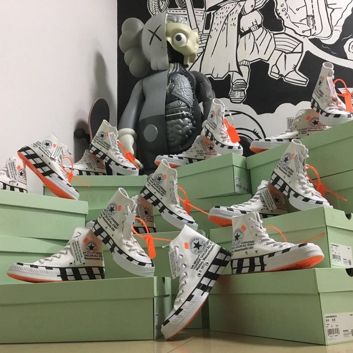 玉米潮流本舖 OFF-WHITE x Converse Chuck1970s 163862C 2.0 聯名款復古帆布鞋