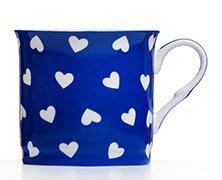點點蘑菇屋{馬克杯}英國ROYAL DUKE藍色愛心骨瓷馬克杯 骨瓷杯 水杯 奶茶杯 現貨 附精緻禮盒. 新竹縣