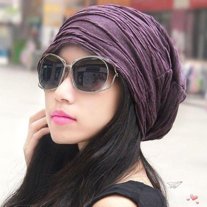 頭巾男女正韓潮頭巾帽堆堆光頭帽正韓套頭包頭月子帽 秋刷毛款