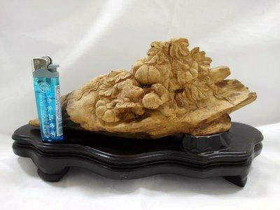 天然沉香木精雕藝品擺件【佛善緣】A0110 松鼠系列多子多福避邪、保平安 辦公室造型擺設 手工雕刻 值得珍藏!!