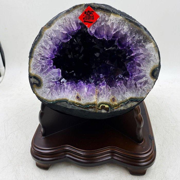 H1192 頂級烏拉圭ESP錢袋子紫水晶洞 7.5kg,高25cm長22cm寬21cm洞深9cm(紫晶洞