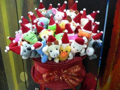 二籃100支聖誕帽動物絨毛筆~公仔玩偶筆~耶誕節送客禮贈品派對結婚禮小物二次進場婚宴囍糖周年慶生來店禮開幕禮迎賓禮滿額禮