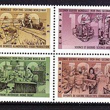 加拿大郵票 1990年二戰50年紀念 方連新