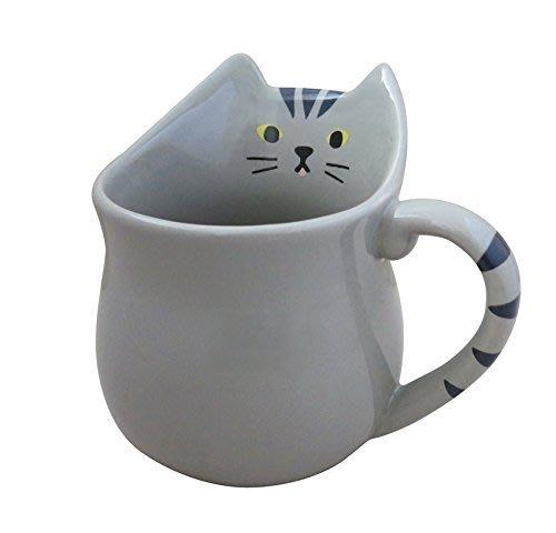 《齊洛瓦鄉村風雜貨》日本雜貨zakka 日本正版 日本DECOLE 立體貓咪馬克杯 虎斑貓咪杯
