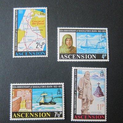 【雲品】阿森松島Ascension Island 1972 Sc 160-163 set MNH