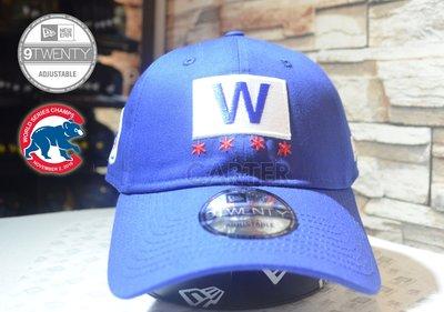 New Era Chicago Cubs Fly the W Royal Blue 芝加哥小熊隊冠軍W軟帽老帽可調式