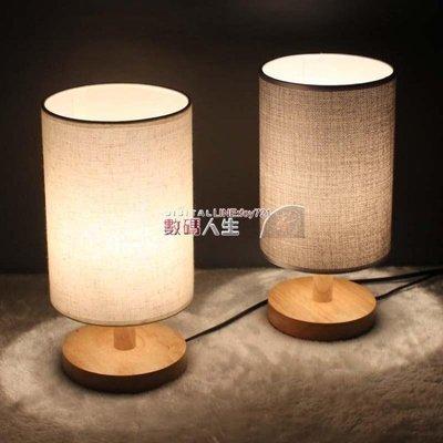 檯燈 簡約現代北歐溫馨喂奶台燈 臥室床頭燈  實木可調光 創意小夜燈