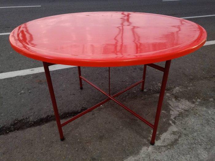 非凡二手家具 全新 辦桌4尺紅圓桌*餐桌*休閒桌*餐廳桌*咖啡桌*戶外桌*吃飯桌*火鍋桌*木桌*圓桌
