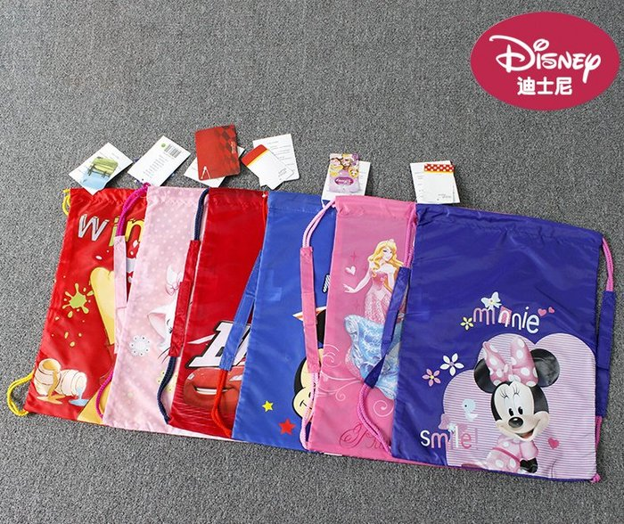 25WATER【加價購~限購其他商品,享免運費】Disney 迪士尼家族 維尼麥坤米奇米妮 肩背手提 後背包 抽繩束口袋