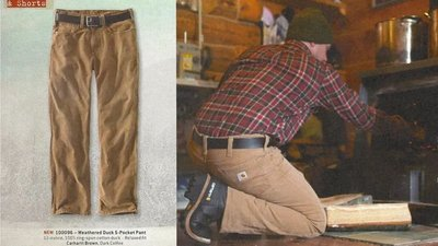 南◇2019 9月Carhartt 100096 Weathered Duck 5-Pocket 黑色 休閒 工作 長褲