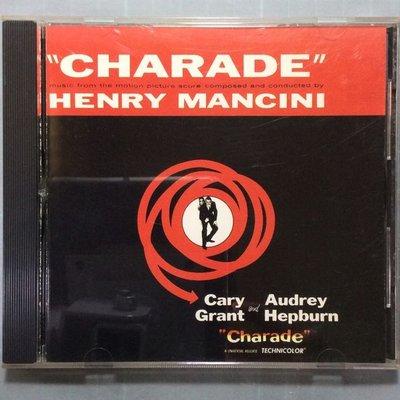 Charade 謎中謎電影原聲帶 Henry Mancini亨利曼西尼 1988年早期美版無ifpi