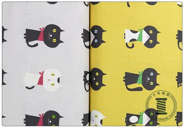 ✿小布物曲✿犀利貓咪 100%純棉印花布 窄幅110CM 日本進口布料質感優 共4色 單價/尺