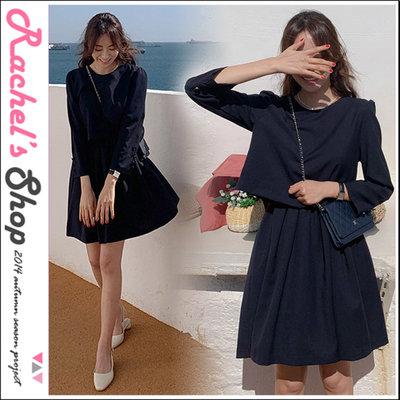 韓國空運*cherrykoko背後排扣假兩件式百褶裙襬洋裝[CK-CB02HWOP11]Rachel's Shop