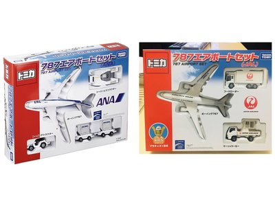 (bear)全新現貨日本直送限時特價 tomica tomy 多美 飛機 民航機 ana ana787 托運車 拖車 禮盒