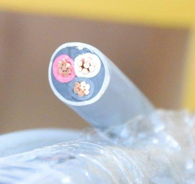 被覆電纜 14mm平方*3芯 VV, 14mm²*3C PVC絕緣及被覆電纜線 14mm*3C 披覆電纜 零售20米一捲