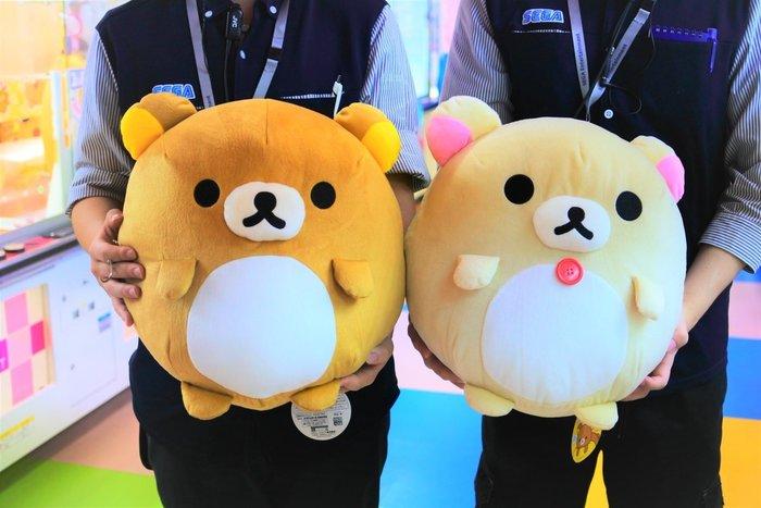 新奇玩具☆現貨 日版 景品 FANS 拉拉熊 懶懶熊 圓滾滾 絨毛 大玩偶 2款一套 約37公分