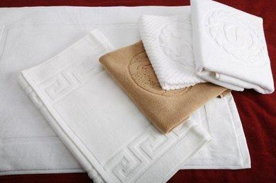 居家家飾設計 100% 純棉腳踏墊/足布 10兩/條-白