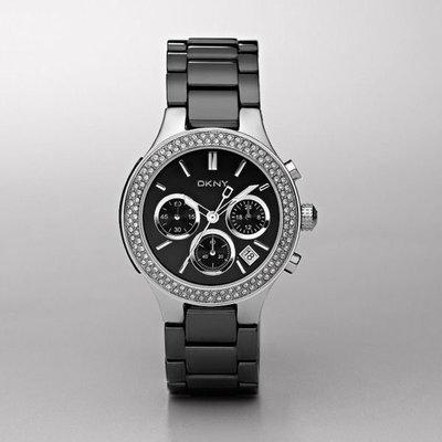 【海洋之心二館】DKNY NY4983 黑色陶瓷中性手錶((現貨在台))