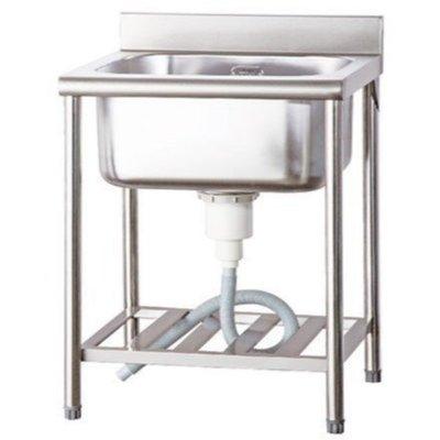 一鑫餐具【營業用 不銹鋼大單深水槽 62×60×80公分 深槽30公分】不鏽鋼水槽白鐵水槽洗衣槽洗手槽洗碗槽