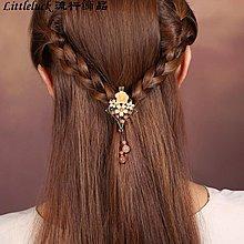 流行飾品煙雨江南原創復古風髮夾古典流蘇民族頭飾髮飾小夾子成人頭髮飾品