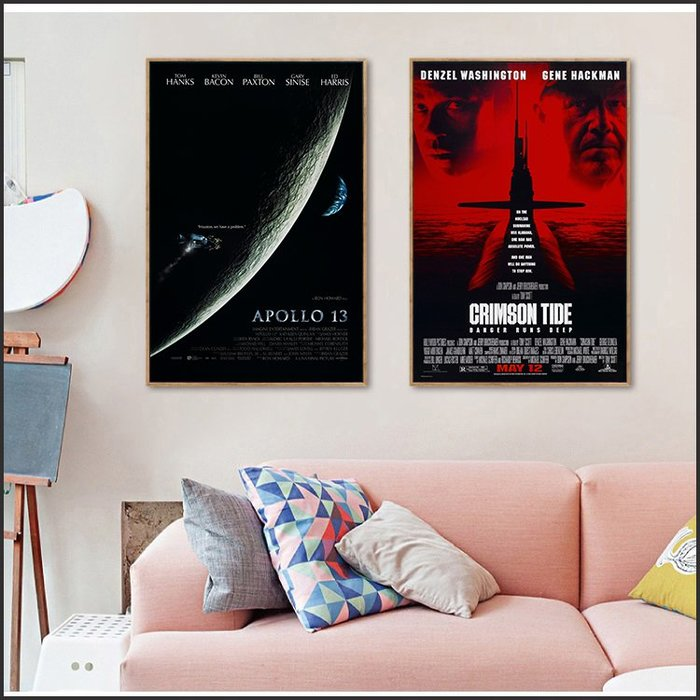 日本製畫布 電影海報 阿波羅13號 Apollo 13 赤色風暴 Crimson 掛畫 無框畫 @Movie PoP #